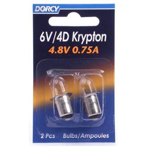 Preisvergleich Produktbild DORCY Armatur läuft / 4d-4.8-volt,  0, 75 A Bajonett Sockel Krypton Glühbirne,  Ersatz 2er Pack (41–1663)