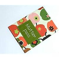 Mutterpasshülle aus Baumwollstoff - BUNTER APFEL - und Filz mit Stickerei - MUTTERPASS - waschbar - Geschenk Weihnachten Geburtstag Muttertag Geburt & Taufe - Mutterpass-Hülle aus Stoff