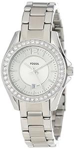 Reloj Fossil ES2879 de cuarzo para mujer con correa de acero inoxidable, color plateado de Fossil