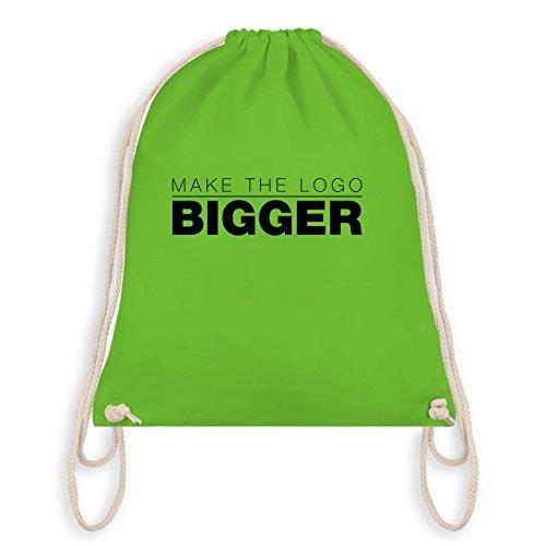 Designer - Ingrandisci Il Logo - Grafiker - Turnbeutel I Gym Bag Hellgrün