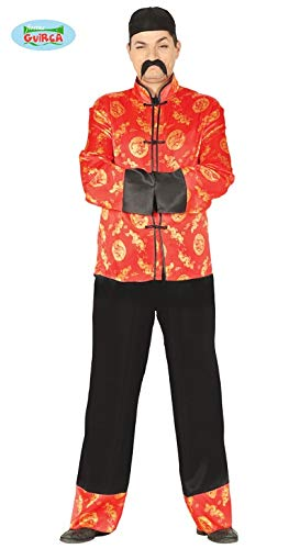 Mandarin Chinese - Kostüm für Herren Karneval Fasching Party China Kaiser Gr. M/L, Größe:M