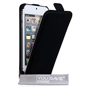 Yousave Accessories ap-ga01-z707Flip Case Cover for iPod Touch 5Black