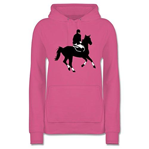 Reiter-kinder Hoodie (Reitsport - Dressur Pferd Reiter Dressurreiten - S - Rosa - JH001F - Damen Hoodie)