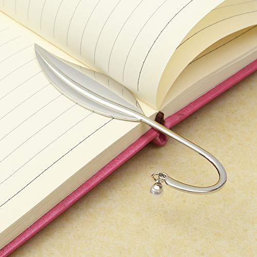 BlattMetall-LeseZeichen für boooks Silberne PapierBuch Marken Halter für SchulMaterial ()