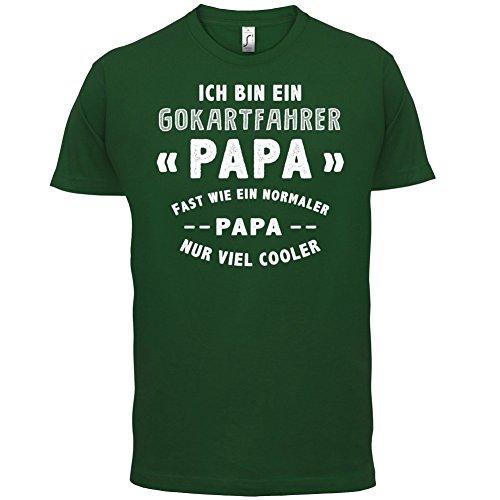 Ich bin ein Gokartfahrer Papa - Herren T-Shirt - 13 Farben Flaschengrün