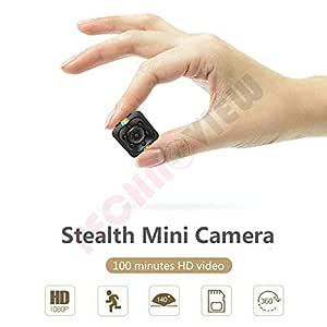 TECHNOVIEW 1080P Full HD Hidden Smallest Mini Spy Camera | Night Vision Hidden Cam | 1920 x 1080p | Full HD Audio and Video Recording
