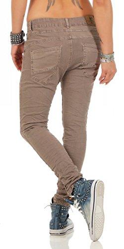 11250 Fashion4Young Coole Damen Jeans Hose Boyfriend Baggy Haremsjeans Röhrenjeans Damenjeans pants Cinder