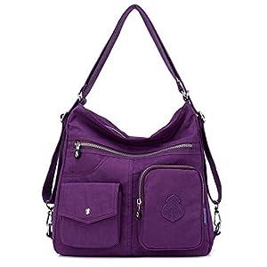 Outreo Mujer Bolsos de Moda Impermeable Mochilas Bolsas de Viaje Bolso Bandolera Sport Messenger Bag Bolsos Baratos Mano…