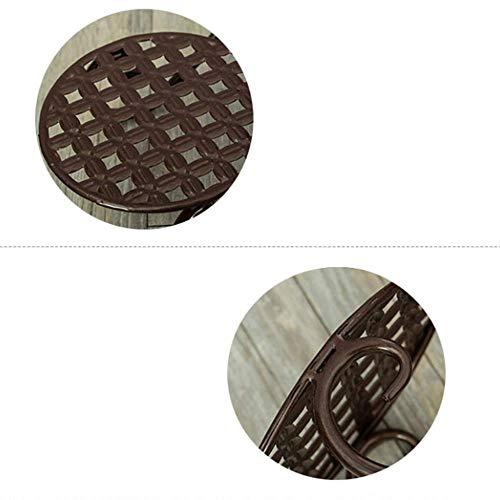Eisen-Multi-Layer-Schreibtisch Blumenständer, Schlafzimmer Doppel-Etage Konferenztisch Display Pot Rack,Brown