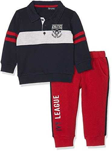Brums Brums Baby-Jungen Jogginganzug 183BDEP002-772 Rosso Scuro 03 772, 80 cm