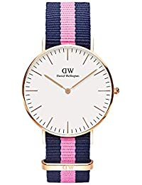 Daniel Wellington Damen-Armbanduhr Winchester Analog Quarz Nylon DW00100033