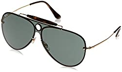 Ray-Ban UV Protected Aviator Unisex Sunglasses - (0RB3581N001/7132|32|Green Color)