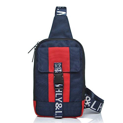 CLOTHES- Giappone e Corea del Sud La spalla trasversale obliqua Oxford Spinning Wild Moda Tempo libero Borsa da viaggio Man Chest Bag ( Colore : A ) C