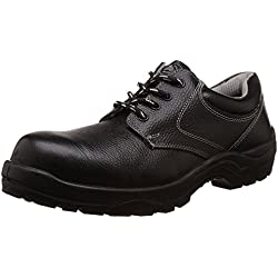 Bata Industrials Bora Derby Safety Shoes (Black, UK Size 9)