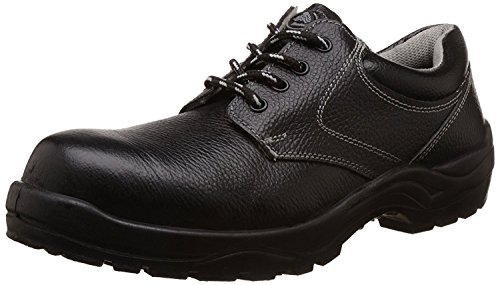 Bata Industrials Bora Derby Safety Shoes, Black, UK Size 7