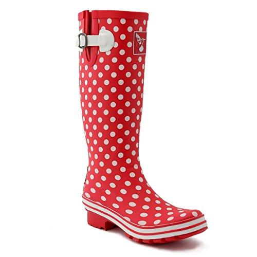 Evercreatures Womens Polka Dot Tall Wellington Boots