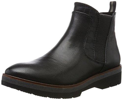 MARCO TOZZI Damen 25400 Chelsea Boots, Schwarz (Black Antcomb), 37 EU