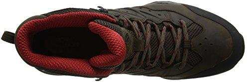 The North Face Hedgehog Hike Ii Mid Gore-tex, Stivali Da Escursionismo Alti Uomo Marrone (bone Brown / Rage Red)