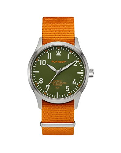 Pop-Pilot Unisex-Armbanduhr DUR Analog Quarz Nylon P4260362631021 - Aviator Watch Damen
