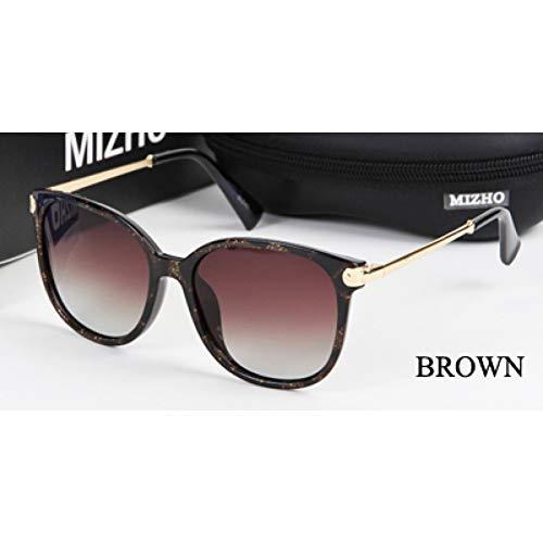 ZRTYJ Sonnenbrillen Hochwertige Original Sonnenbrille Frauen Polaroid Schild Anti Glare Polarisierte Sonnenbrille Damen Luxusmarke