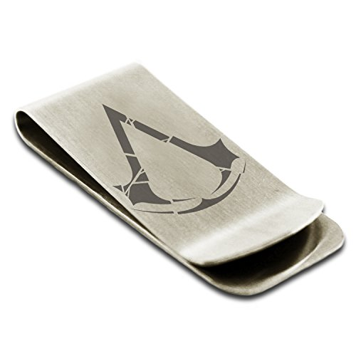 stainless-steel-assassins-creed-rogue-insignia-engraved-money-clip-credit-card-holder