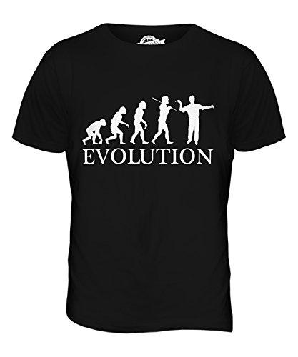 CandyMix Darts Evolution Des Menschen Herren T Shirt Schwarz