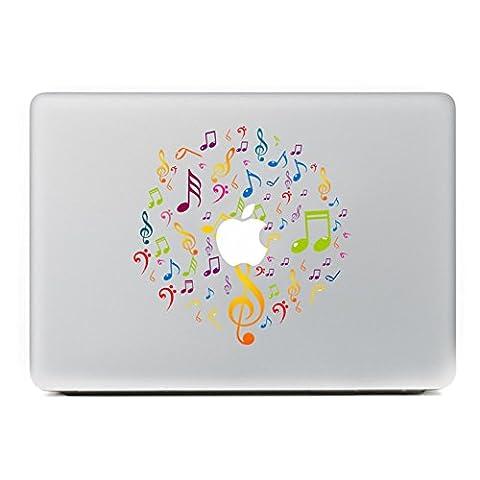 """MacBook Aufkleber, Chickwin Creative Pattern dekorativ Film Notebook Sticker Skin personalisierte Aufkleber MacBook Pro Air 13"""" Decal (Notizen)"""