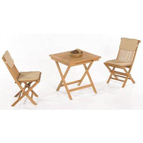 Gartenmöbel günstig 3 teilig  Sonnenpartner Gartenmöbel Set Tischgruppe 3 teilig Bristol ...
