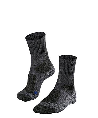 FALKE TK1 Cool Damen Trekkingsocken / Wandersocken - grau, Gr. 37-38, 1 Paar, kühlende Wirkung, extra starke Polsterung, feuchtigkeitsregulierend - Coole Socken Knie Hoch
