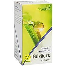 BjökoVit Folsäure Kapseln mit Vitamin B12, Jod & Vitamin D, vegan, 60 Stück