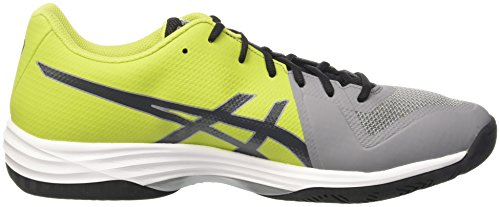Asics Gel-Tactic, Chaussures de Volleyball Homme Argent (Aluminum/Dark Grey/Energy Gree)