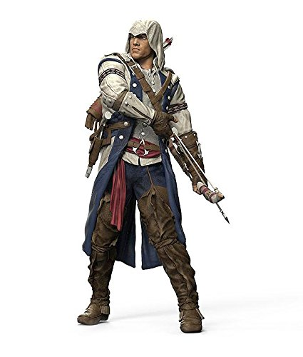 Assassin's Creed detailreiche Actionfigur Connor, aus Kunststoff (H: 18cm) (Bogen Creed Assassins)