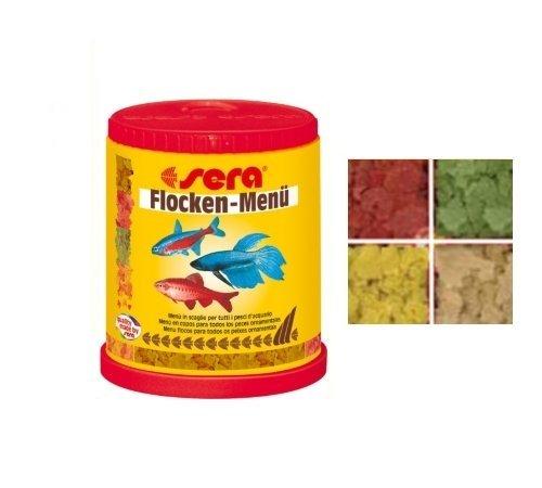 Sera Flocken Menù - Mangime in scaglie ricco di varietà per tutti i pesci d'acquario (Mangime Per Pesci Animali)