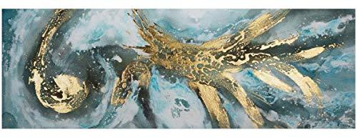 KunstLoft® Acryl Gemälde 'Enigma' 150x50cm | original handgemalte Leinwand Bilder XXL | Bunt Warme Farben Abstrakt Strudel | Wandbild Acrylbild Moderne Kunst einteilig mit Rahmen