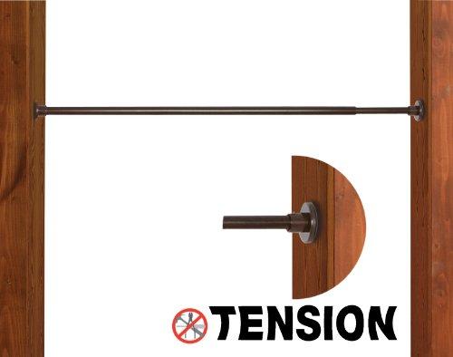 Versailles Home Fashions Edelstahl Innen und Außen 18/71cm Duo Tension Rod, 3/4-Zoll Durchmesser, Espresso