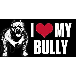 American Vinyl i Heart My Bully Aufkleber (American Pit Bull Love Bumper)