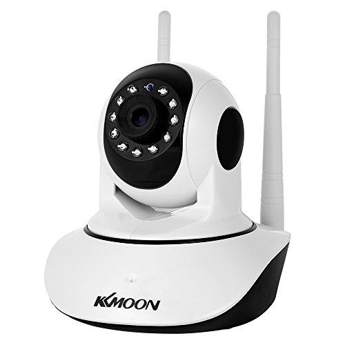 Preisvergleich Produktbild KKmoon IP Kamera 1080P Wireless WIFI Sicherheitskamera 3.6mm Objektiv Unterstützung PTZ Zwei-Wege Audio Nachtsicht Telefon APP Control Motion Detection TF Card