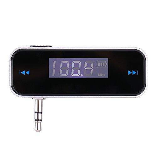 3 Universal-fm-transmitter (Fishlor FM-Transmitter für Mobiltelefone, Universal-FM-Transmitter zum Freisprechen mit 3,5-mm-Audio-Stecker für Mobiltelefone, FM-Transmitter)
