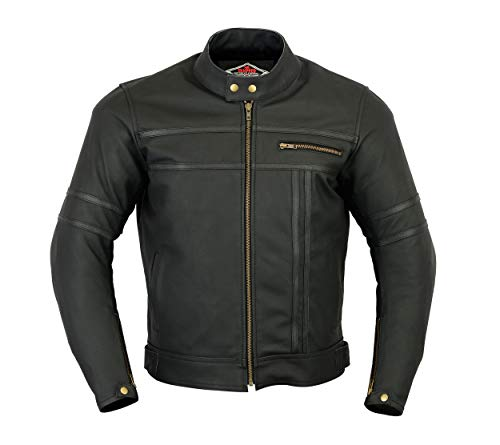 Texpeed Two Tone Leather Racing Jacket
