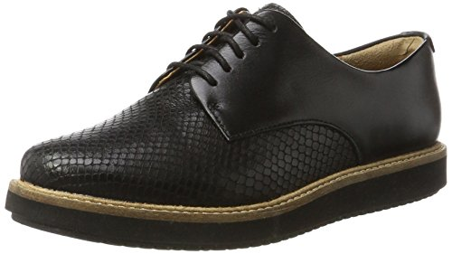 Clarks Women's Glick Darby Brogue, Black, 5 UK
