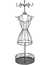 Mannequin, porte bijoux ,présentoir à bijoux - Original et Élégant - Coloris GRIS