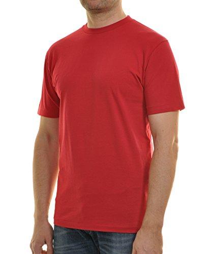 Ragman Herren T-Shirt Singlepack Rot