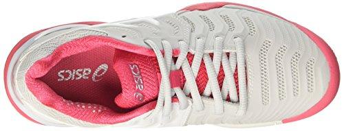 Asics Gel-Resolution 7, Scarpe da Tennis Donna Multicolore (Glacier Grey/White/Rouge Red)