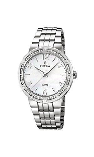 University Sports Press F16703/1 - Reloj de cuarzo para mujer, con correa de acero inoxidable, color plateado