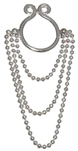 loveorama.de Brustwarzen Clip Schmuck Nipple Clip dreifache Kette 925 Sterling Silber