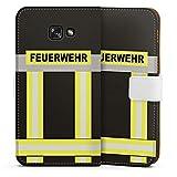 DeinDesign Samsung Galaxy A5 (2017) Tasche Leder Flip Case Hülle Feuerwehr Feuerwehrmann Firefighter
