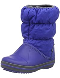 Crocs Winter Puff Boys Boot In Blue