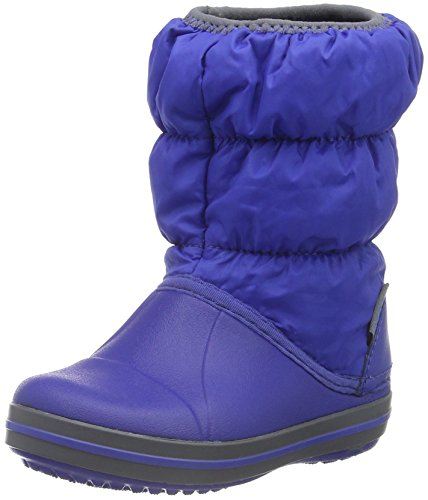 crocs Winter Puff Boot Kids, Unisex - Kinder Schneestiefel, Blau (Cerulean Blue/Light Grey), 24-25 EU (Winter Boot Kinder)