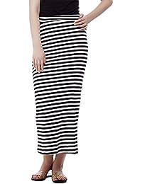 FRANCLO women's striped skirt (100% hosiery) (best fit 30-34 waist)