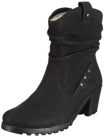 Rieker Sandy Y8081-01, Bottes femme - Noir - V.6, 40 EU